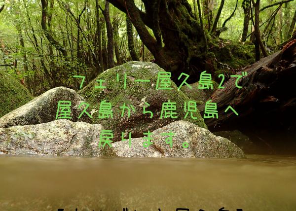 【ありがとう屋久島】フェリー屋久島2で屋久島から鹿児島へ戻ります。